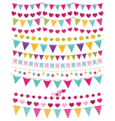 Bunting decoration set vector