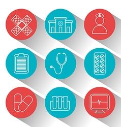 Medical icons design vector image