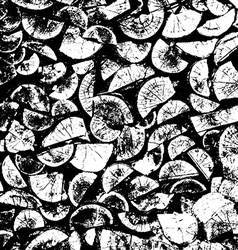 Firewood tree cut black and white grunge wood vector