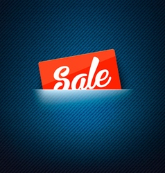 Sale label in poket card vector