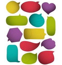 Set of special colour bright bubbles with knitwear vector