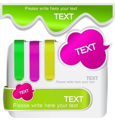 colorful bookmarks for speech vector image