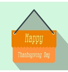 Signboard thanksgiving flat icon with shadow vector