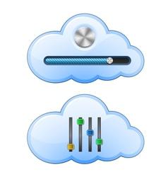 cloud hosting control vector image