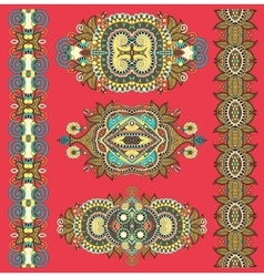 Ornamental decorative ethnic floral adornment for vector