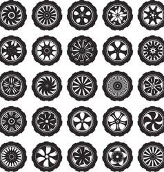 automotive wheel vector image