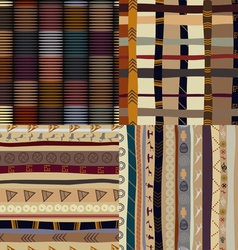 A set of patterns primitive painting vector