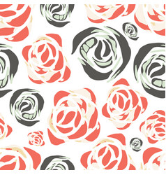 Abstract watercolor pattern with roses vector
