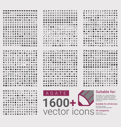 Agate is a set of 1600 plus icons vector