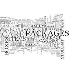 Back to school care packages text word cloud vector