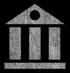 Bank building fabric textured icon vector