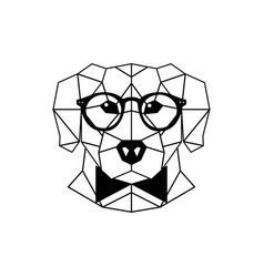 dog labrador in glasses and a bow tie vector image vector image