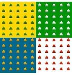 Fir tree pattern vector image