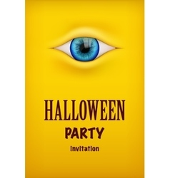 Halloween party invitation with monster eye vector