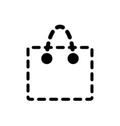 Handbag or shopping bag icon vector image