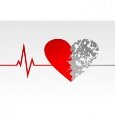 heart life vector image vector image