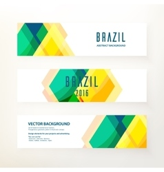 Horizontal banners in Brazil color concept vector image vector image
