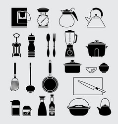 houseware set vector image vector image