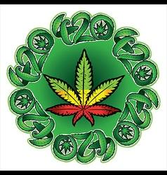jamaican color cannabis marijuana leaf symbol vector image vector image