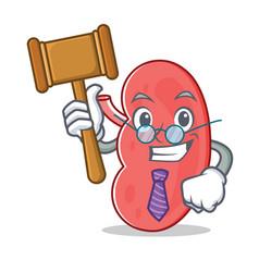 Judge kidney mascot cartoon style vector