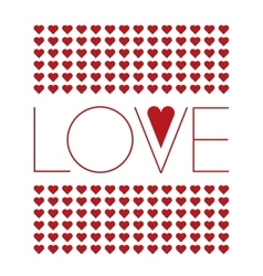Love background with small red hearts vector