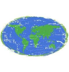 Painting earth vector image vector image