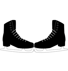 pair of skates vector image vector image
