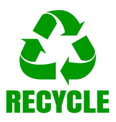 Recycle green simbol sign of recycling waste vector