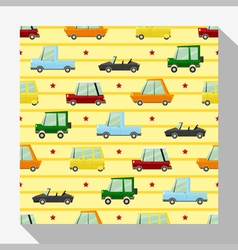 Seamless pattern collection with car 3 vector