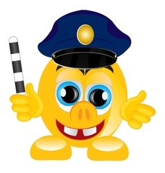 Smile police on white background vector