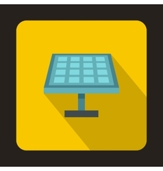 Solar panel icon in flat style vector