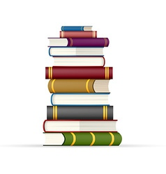 Stack of multi colored books vector