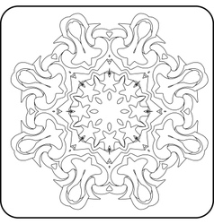symmetry curves pattern vector image