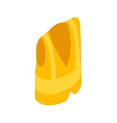 Yellow vest icon isometric 3d style vector