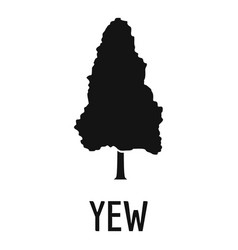 yew tree icon simple black style vector image