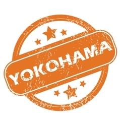 Yokohama round stamp vector