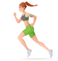 young woman running cartoon vector image