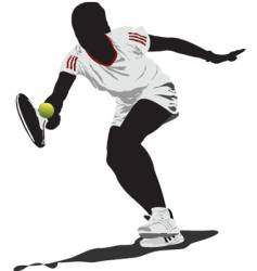 tennis player vector image