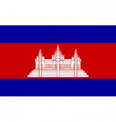 cambodia flag vector image