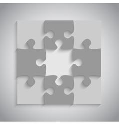Grey puzzles piece jigsaw - 9 pieces vector