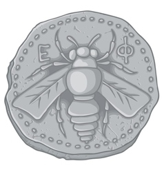 Honeybee coin vector