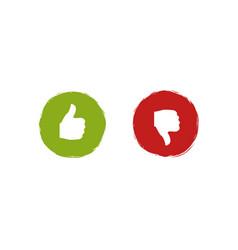Like and dislike labels vector
