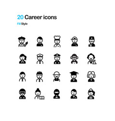 career fill icon vector image