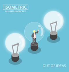 Isometric business trapping inside broken light vector