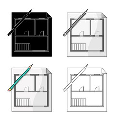 house planrealtor single icon in cartoon style vector image