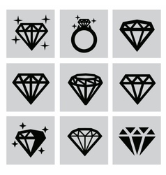 Diamond icons vector