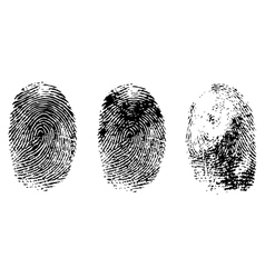 Different black fingerprints vector