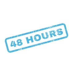 48 hours text rubber stamp vector