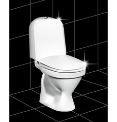 White toilet vector