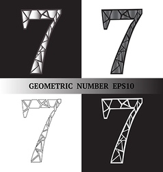 Seven Geometric vector image